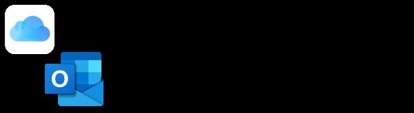 iCloud and Outlook logos