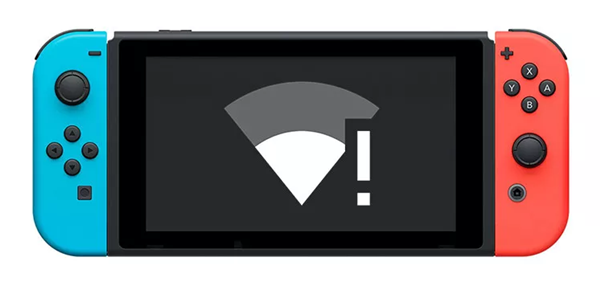 Nintendo Switch device displaying Wi-Fi status icon.