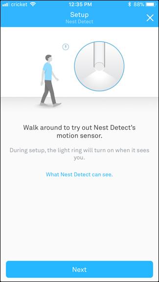 Nest detector test