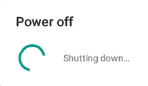 Power off message showing on Android.