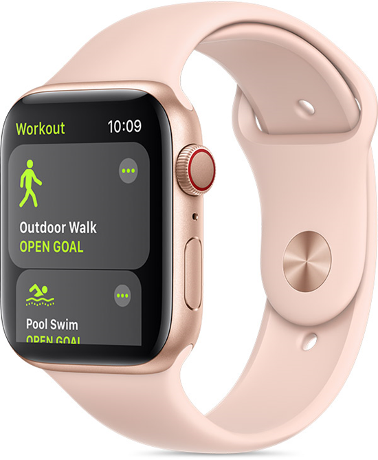 Apple watch with workout app open