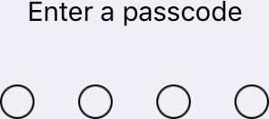Enter a passcode
