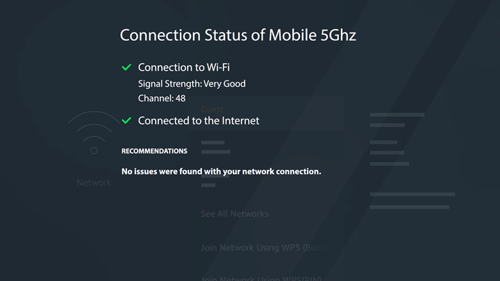Connection status shown on FireTV screen.
