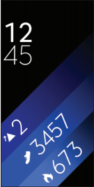 Samsung Gear Fit2 smartwatch home screen