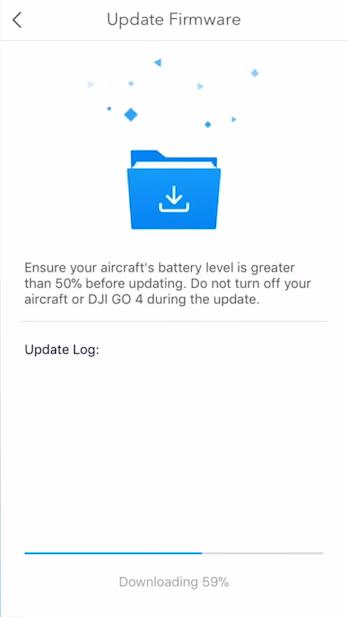 Firmware update in progress.