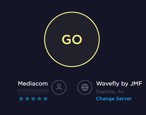 Speedtest.net showing the Go button