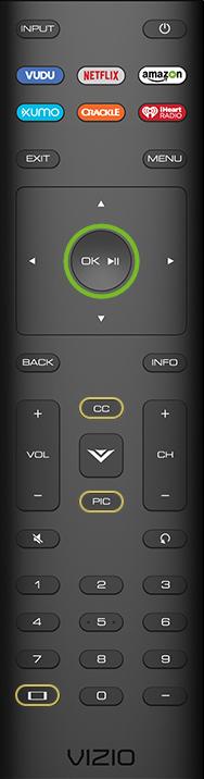 OK button on remote