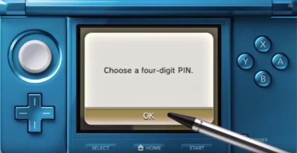 Starting to choose a pin