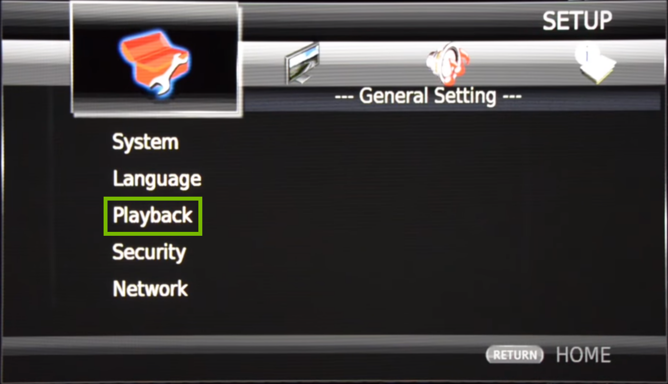 Blu-ray menu with highlighted option
