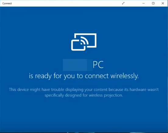 Windows 10 connect app.