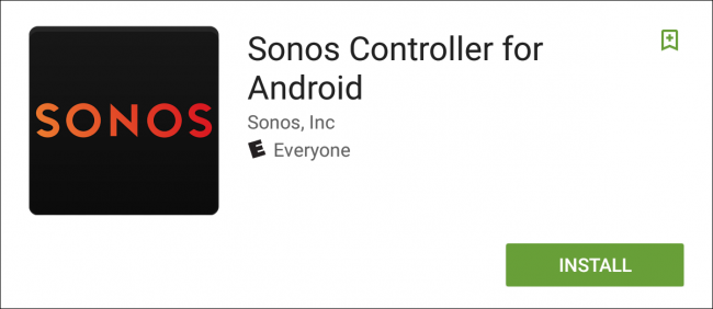 Sonos Controller Android installation screen