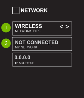 Element Smart TV Network Status. Screenshot