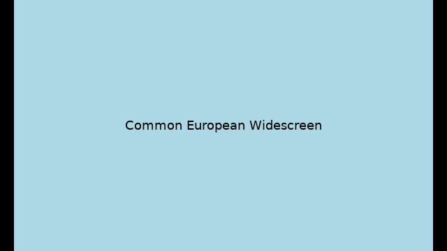 Example of Paramount Widescreen being shown on a modern high definition television.