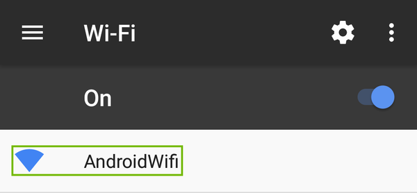 Wi-Fi settings with Wi-Fi network highlighted.