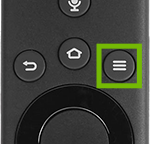 Remote with menu button highlighted.