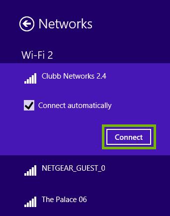 Connect button.