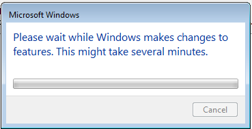 Windows feature install dialog.