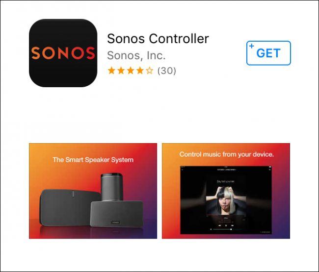 Sonos Controller iOS installation screen