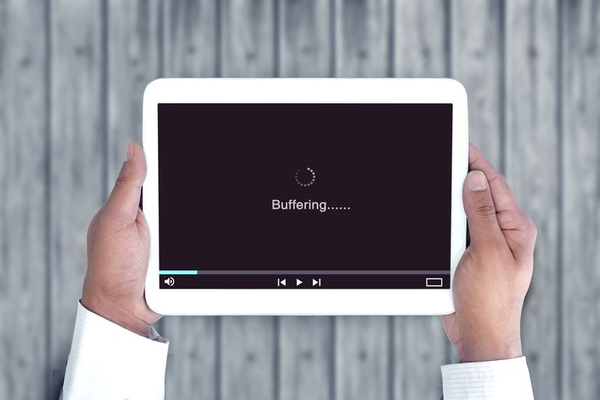 Stream buffering on tablet.