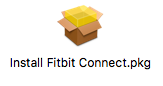 Install fitbit connect icon