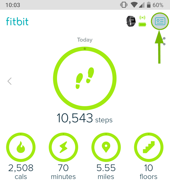 Fitbit app icon for account