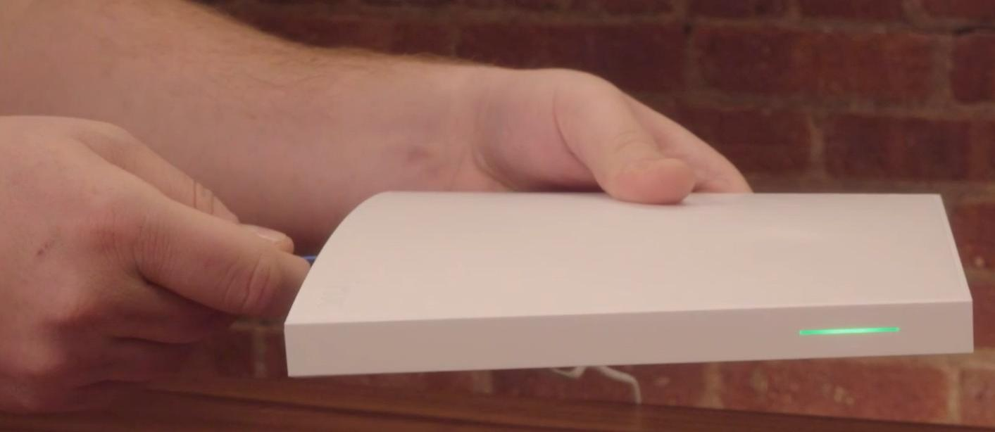 Holding reset button on Wink Home Hub 2