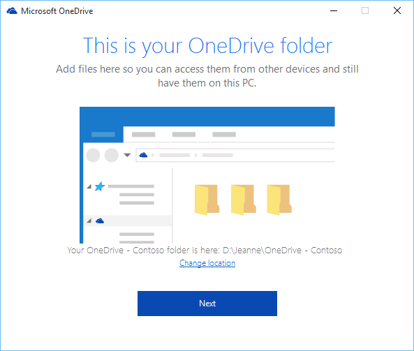 Microsoft one drive main folder