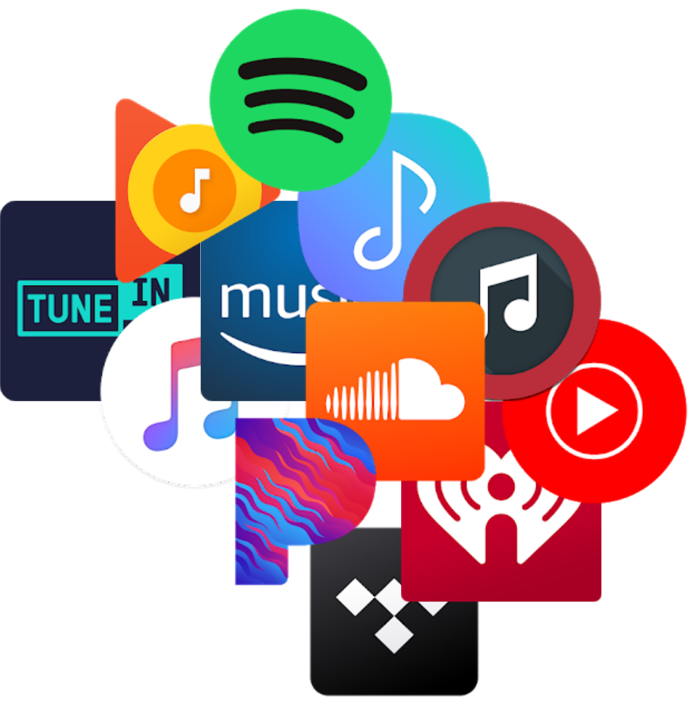 Common media and music app icons.