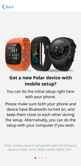 polar flow app add device