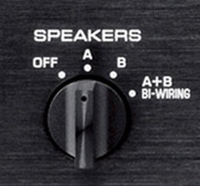 AV receiver speaker selector knob.