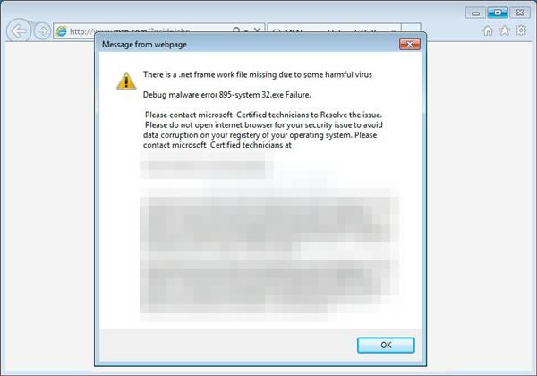 Hijacked internet explorer