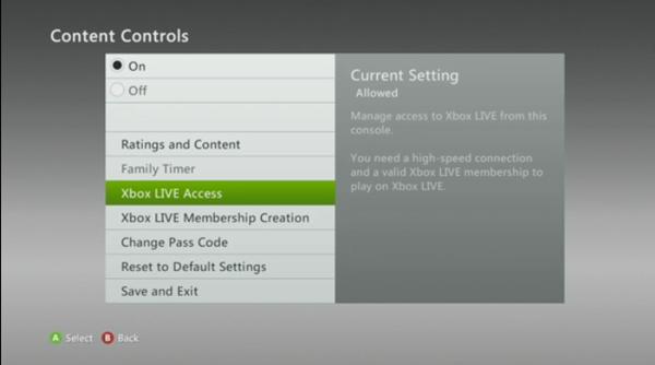 Xbox Live Access