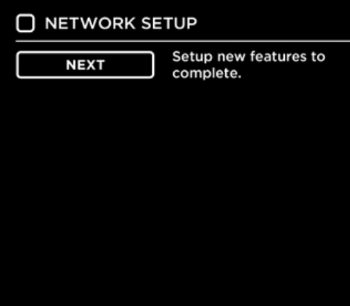 Smart TV network setup additional settings