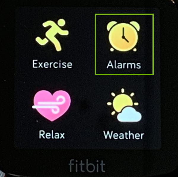 The alarms app