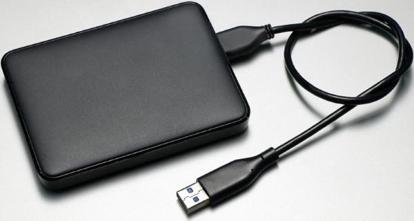 USB external drive.
