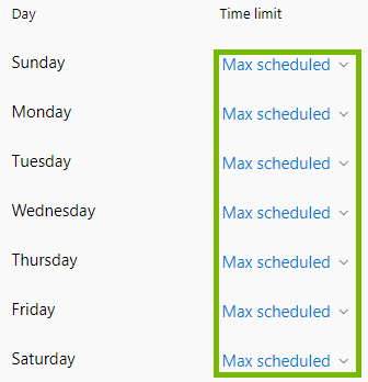 Max Scheduled