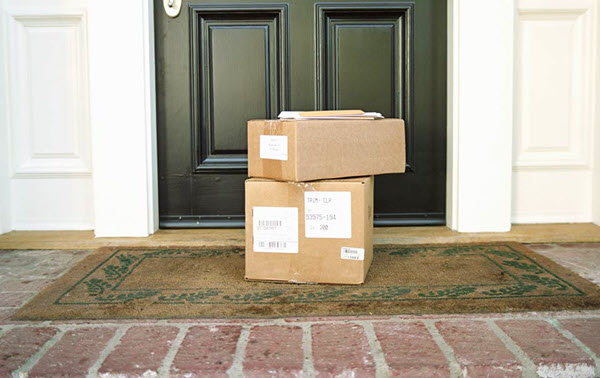 Packages piling up on doorstep