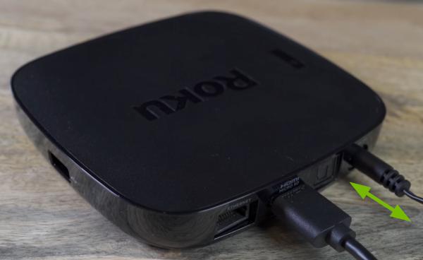 Unplug and replug power adapter in Roku device.