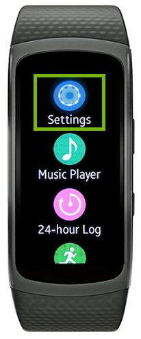 smartwatch settings