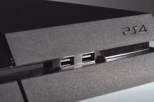PlayStation 4 front USB ports.