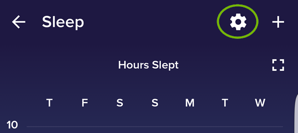 Sleep gear icon