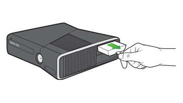 Removing the hard drive from the console. Illustration.
