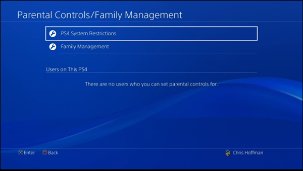 PS4 system restrictions