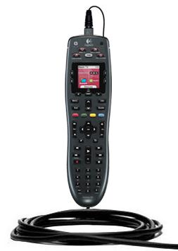 Logitech Harmony 700 charging via USB cable.