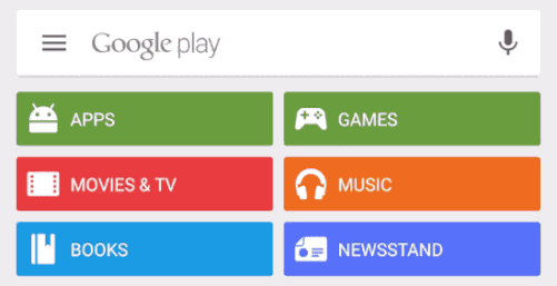 Google Play search screen
