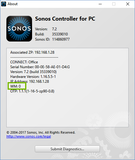 Sonos controller information for windows