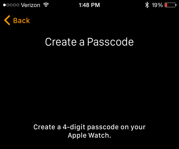Create a passcode screen