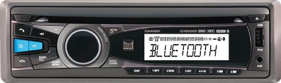 Car stereo source set to Bluetooth.