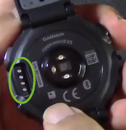 Charging pins on the forerunner