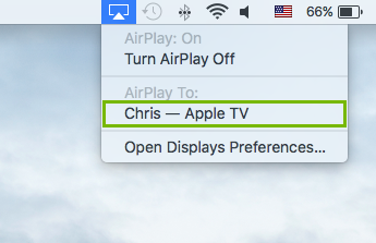 Airplay device highlighted